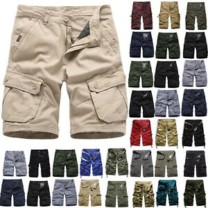 Men/'s Military Cargo Combat Shorts Pockets Summer Casual Work Short Trousers