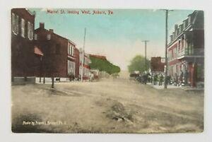 Postcard-Market-Street-Looking-West-Auburn-Horse-Buggy-Pennsylvania-1908