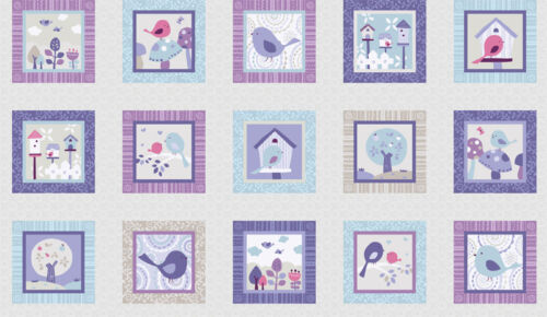 Tweet Together Birds Panel 15 Panels Cotton Quilting Fabric