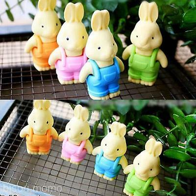 Creative Animal Stationery Lovely Suspenders Rabbit Style Pencil Rubber Eraser