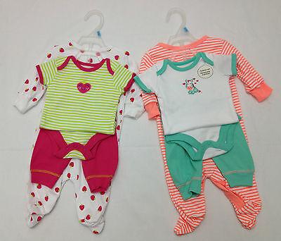 Ex George Baby Girls Boys 3 Piece Set Sleepsuit Bodyvest & Bottoms 0-24 Months