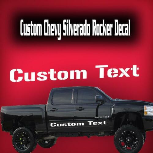 Chevy Silverado Rocker Stripe Vinyl Decal Sticker 1500 2500 3500 HD Fits 4 door