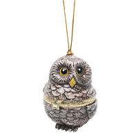Christmas Tree Ornament Box - Owl on sale