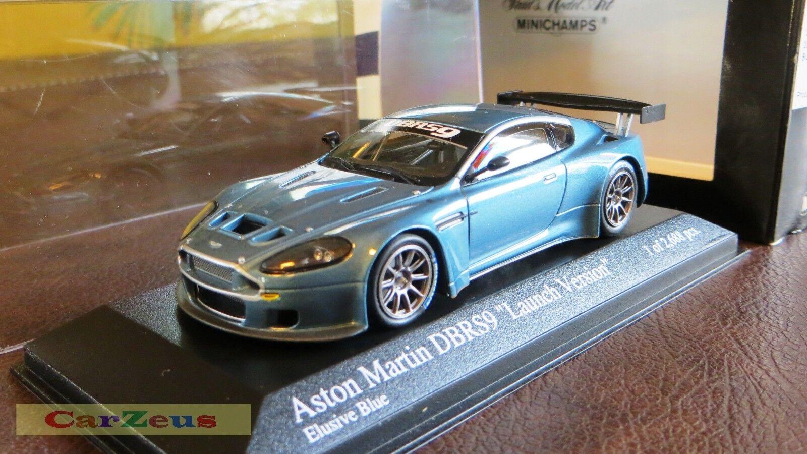 1 43 Minichamps, 2006 Aston Martin DBRS9  Launch Version , Elusive blu