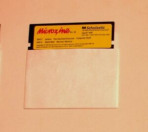 Microzine-22-Disk-for-Apple-II-Plus-IIe-IIc-IIGS-Math-Mall
