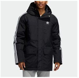 Adidas Originals Parka Black Padded Mens Coat Mens Adidas