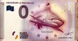 BILLET-0-ZERO-EURO-SOUVENIR-TOURISTIQUE-AQUARIUM-DE-LA-ROCHELLE-2015-1