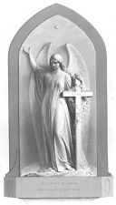 WINGED Angel Woman SPIRIT OF FAITH ~ Old 1872 BIBLE RELIGION Art Print Engraving