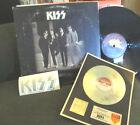 KISS DRESSED TO KILL 1st lp bogey lb Embsd cvr '75 w/sticker+silver award record