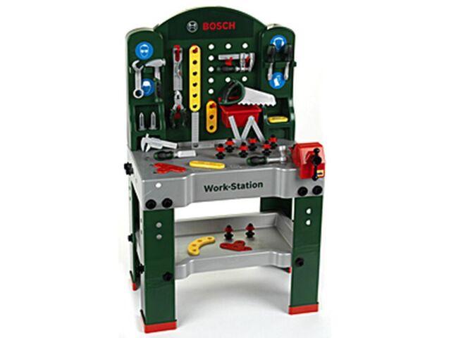 Bosch Work Station Werbank Kinder Werkzeug Spielzeug Zubehör Funktion 8580
