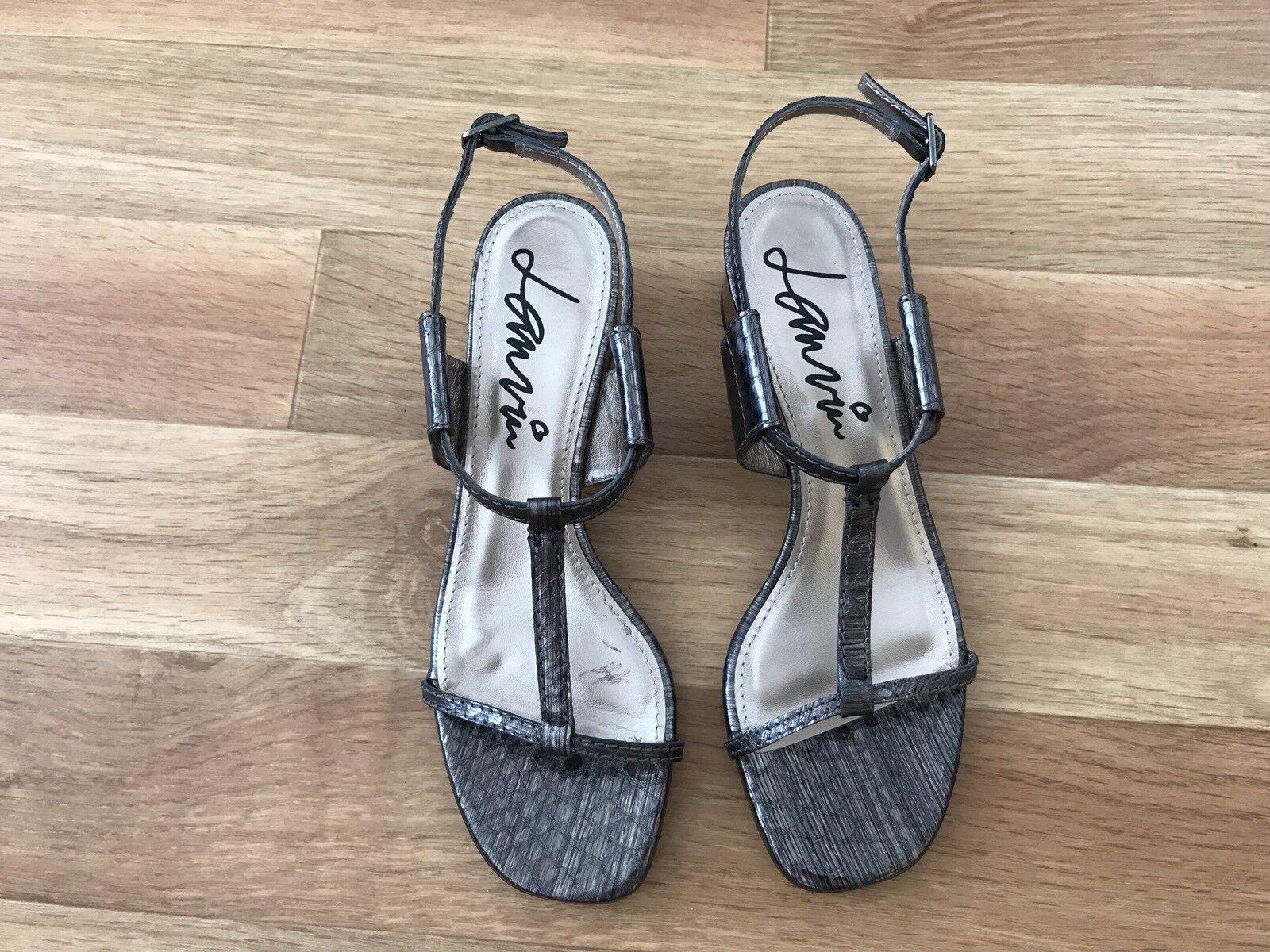 LANVIN  Luxus Sandalen echt Leder grau flach Gr. 36 neu ohne Karton    | Offizielle Webseite