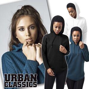 URBAN-CLASSICS-femmes-extra-large-matelasse-veste-hoodie-pull-avec-Capuche