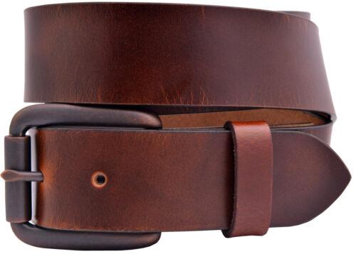 TBS3302-750 Full Grain Buffalo Leather Aniline Finish Belt Reddish Brown