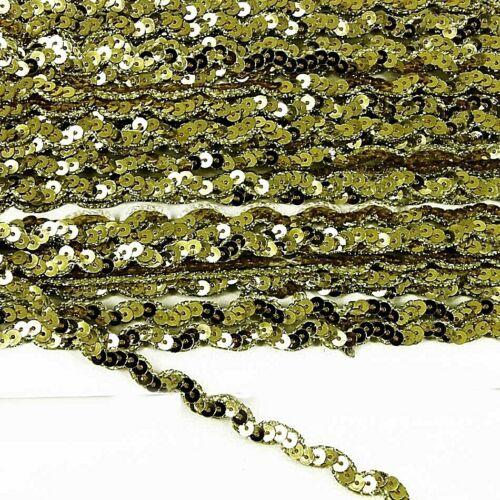 1 M X or Zig Zag Sequin Trim Longueur de coupe danse Craft Noël largeur 9 mm ST46