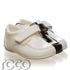 Childrens-Baby-Boys-Cream-Shoes-Wedding-Page-Boy-Christening-Kids-Shoes