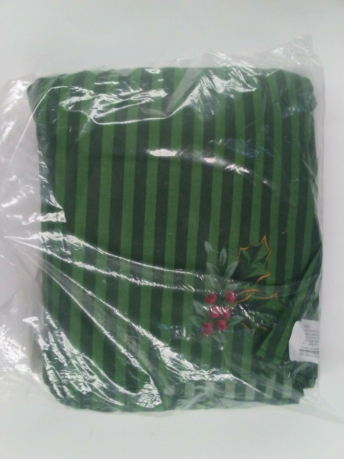 King Bed Skirt Dust Ruffle Cotton Holiday Pattern Royal Poinsettia on Green