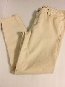 Women-s-BANANA-REPUBLIC-Ivory-Corduroy-Pants-Size-29-Skinny-Off-White-Pants-L