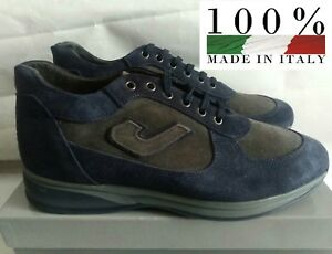 Made Sneakers Paul Frank Italy Grigio Santoni Uomo blu Stile Lacci Nuovo N°43 In pqYwdY