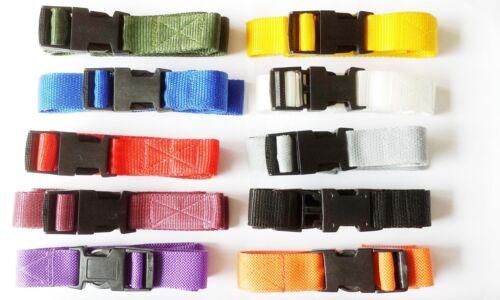 "any colour Quick Release 25mm Adjustable Webbing Fastening Belt 1strap 1/"""