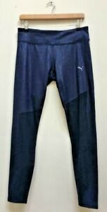 New-PUMA-Navy-Blue-Always-On-Graphic-7-8-Sports-Gym-Training-Leggings-UK-16-BNWT
