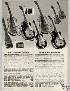 1958 paper ad kay brand electric guitars hawaiian professional amplifier ukes ebay. Black Bedroom Furniture Sets. Home Design Ideas