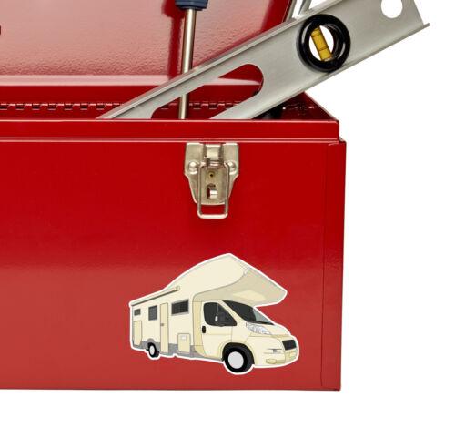 2 x Caravan Camper Van Sticker Car Bike iPad Laptop Gift Fun Travel UK GB #4186