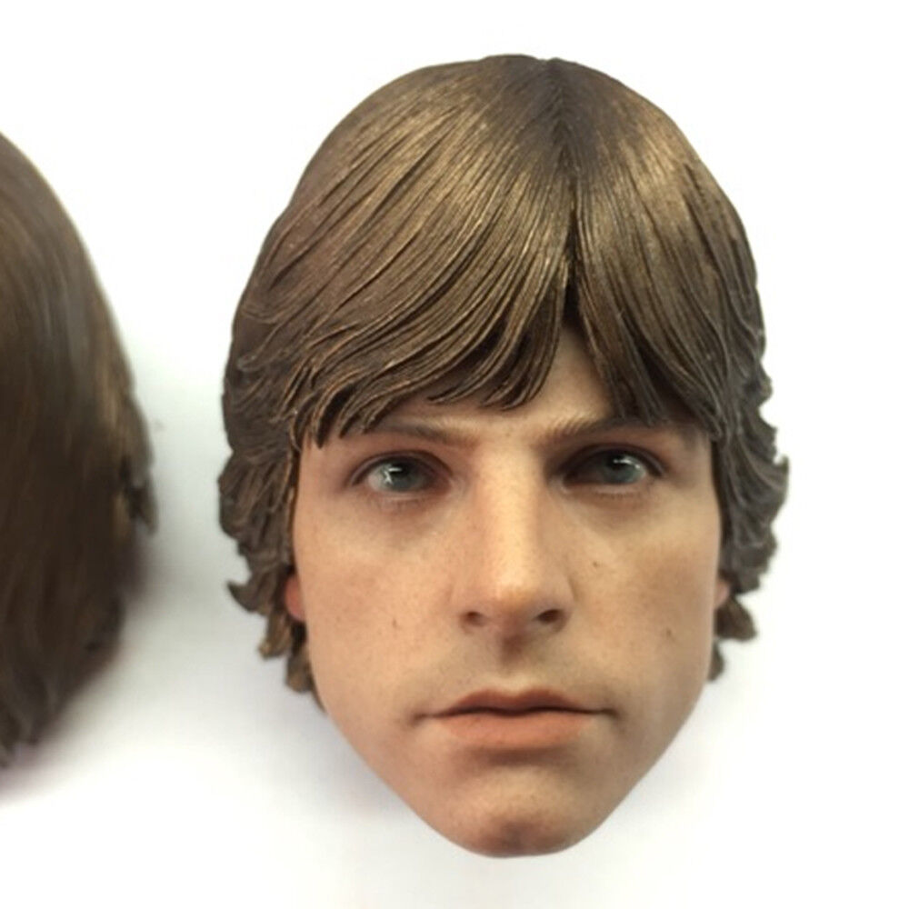 1 6 Scale Scale Scale Star Wars Luke Skywalker Head Sculpt for 12  Male Action Figure Body 736f6d
