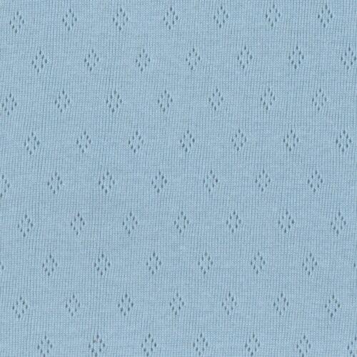Pointelle Fine Cotton Jersey Dressmaking Fashion Fabric Knitted Nursery