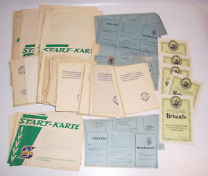 Konvolut-Blanko-Documents-Dtsb-Sporttag-1955-Leipzig-1963-Debut-Carte