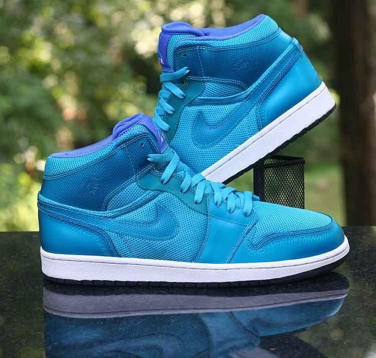 Nike Air Jordan 1 Phat High Marina Blue White 364770-401 Men's Size 10.5