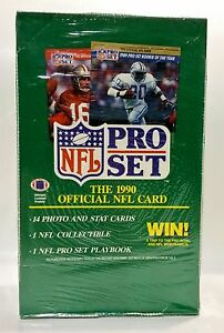 1990-Pro-Set-series-1-Football-card-box-Factory-Sealed-contains-36pks