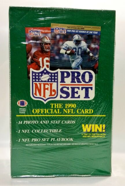 1990 Pro Set series 1 Football card box Factory Sealed contains 36pks