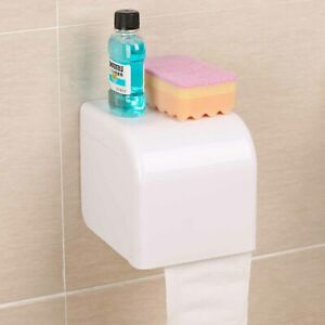 Suction-Cup-Tissue-Paper-Roll-Holder-Box-Organizer-Bathroom-Toilet-Wall-Mounted