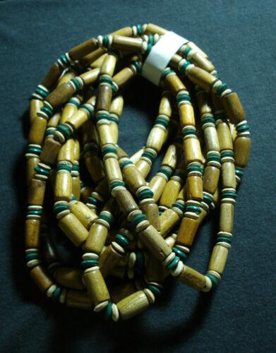 stock 10 collane legno cocco elastiche etnico tribale uomo donna hand made lotto