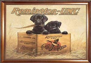 Magnet Vintage Ad Ads Remington Ammo Dogs Labrador Puppies Box Free
