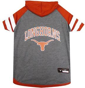 d92b47f61 TEXAS LONGHORNS Tee Hoodie NCAA Dog Pet tee shirt (all sizes)