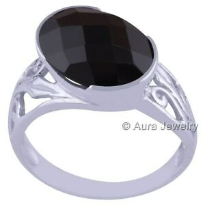 Black Onyx Solid 925 Sterling Silver Anniversary Ring ANY SIZE R1811-1