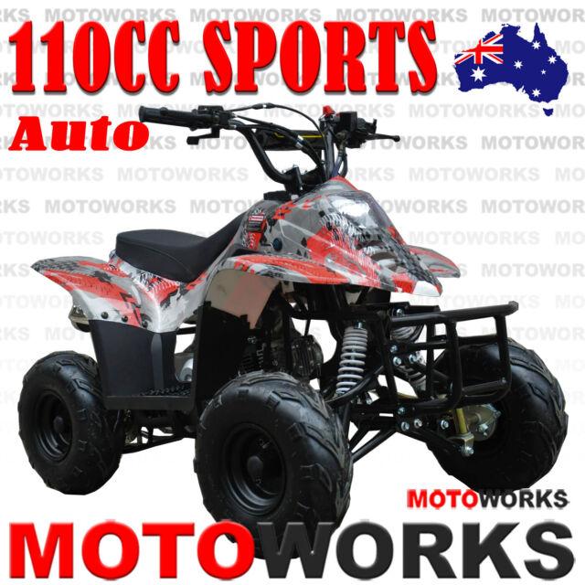 MOTOWORKS 110CC sports Auto ATV QUAD Dirt Bike Gokart 4 Wheeler Buggy kids red
