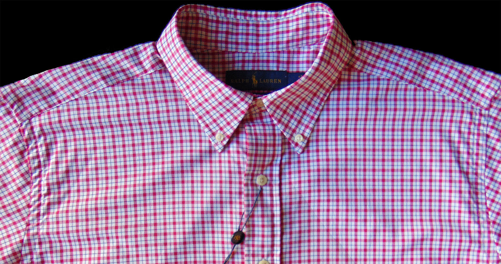 Men's RALPH LAUREN Red White Plaid Shirt LT TALL Performance Fabric NWT NEW