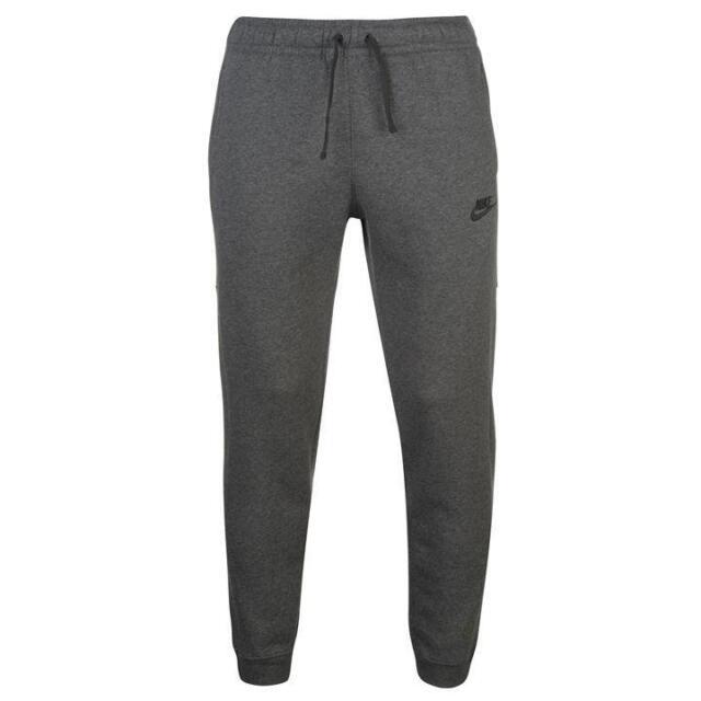 39768c045d9649 Nike Sportswear Fleece Men Tracksuit Dark Red Gray Sports Suit ...