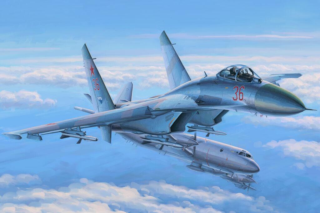 Su-27 flanker early fighter 1 48 plastic model kit hobby boss