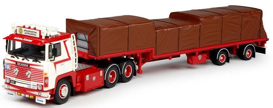 Todos los productos obtienen hasta un 34% de descuento. TEK65819 - Camion SCANIA 141 4x2 avec plateau col de de de cygne et chargement aux cou  bajo precio del 40%