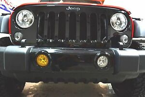 Jeep Wrangler Fog Lights >> Details About 2012 2019 Jeep Wrangler Fog Light Tint Yellow Overlays Pre Cut Jku