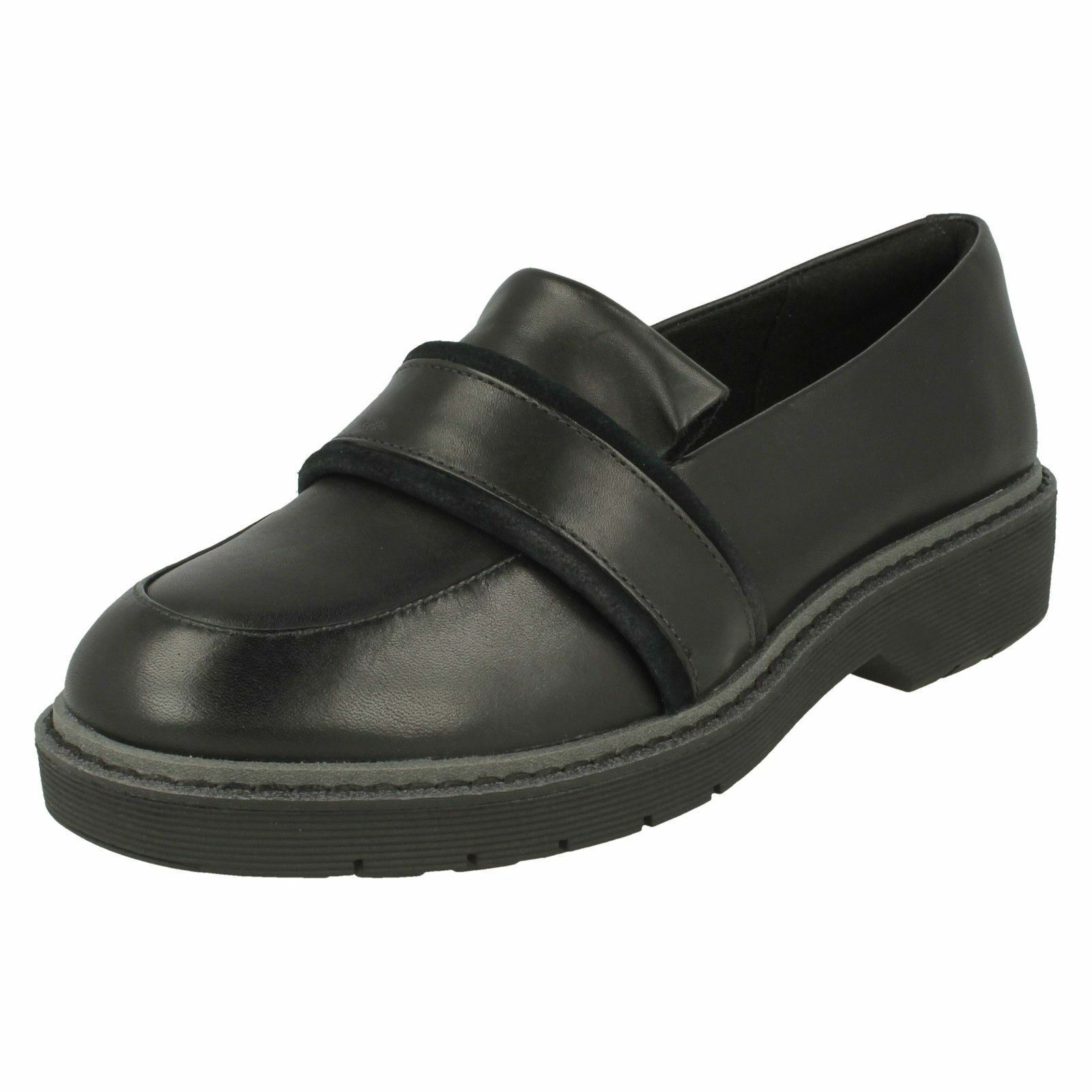 Womens Clarks Flat Loafer Inspired shoes - Alexa Ruby