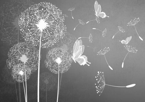 FOTOTAPETE Tapete WANDBILDER XXL 15F0127800 Pusteblumen Natur Blumen Wald