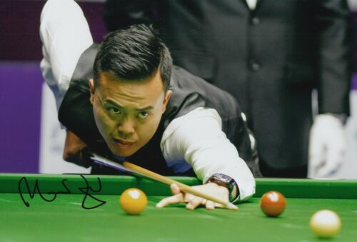 MARCO FU HAND SIGNED 12X8 SNOOKER PHOTO PROOF 5.