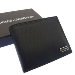 Dolce-amp-Gabbana-Wallet-Purse-Bifold-Logo-Black-Woman-Authentic-Used-R856