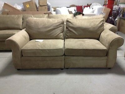 Pottery Barn Pearce Couch Sofa Sectional Wheat Everyday Suede Chairs Loveseat Ebay