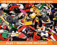 Lego 100+ Clean Pcs From Huge Bulk Lot W/ 1 Minifigure Mint / Cheap Price