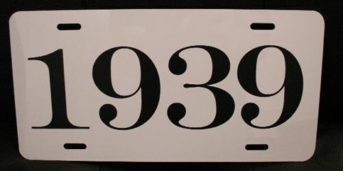 1939 YEAR LICENSE PLATE FITS CHEVY FORD PLYMOUTH OLDSMOBILE STUDEBAKER BUICK